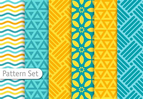 colorful pattern vector colorful geometric pattern set download free vector art
