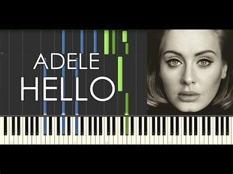 hello keyboard tutorial adele sheet music let it be and piano sheet on pinterest
