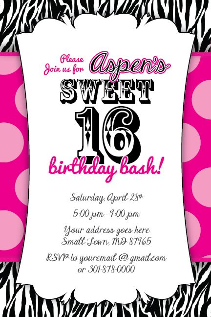 free printable birthday cards zebra print 40th birthday ideas free zebra print birthday invitation