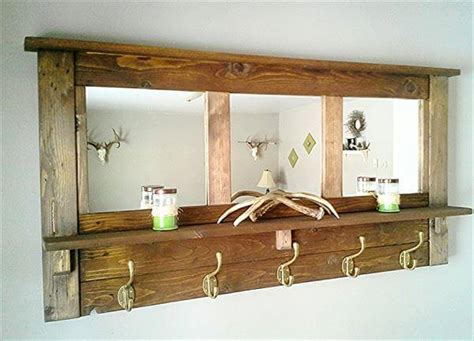 How To Build A Shoe Organizer For Entryway by Diy Pallet Mirrored Coat Rack Pallet Furniture Diy