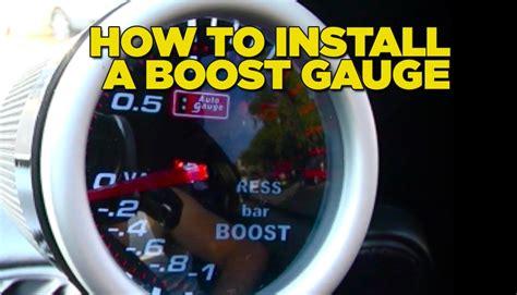 install boost gauge diy youtube
