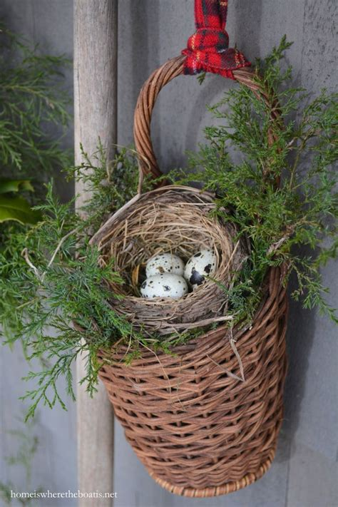 how to make a birds nest for xmas tree basket with cedar and bird nest pottingshed bird egg feather nest