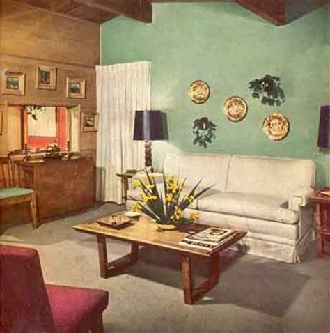 Retro Style Home Decor Vintage Style The 1940s White Couches Room And House