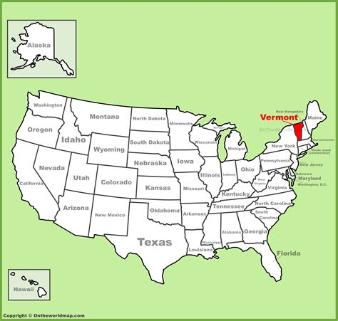 us map states vermont vermont location on the u s map