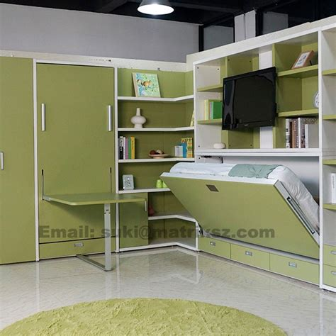 multifunctional childrens bed folding kids wall bed kids bed with study table