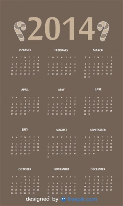 Calendar Headers 2014 Calendar With Header Vector Free