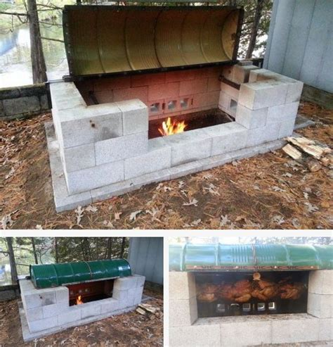diy pit for cooking build your own large rotisserie pit bbq homestead survival