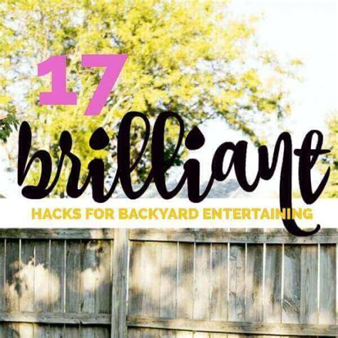 entertaining hacks 17 brilliant backyard entertaining hacks spaceships and