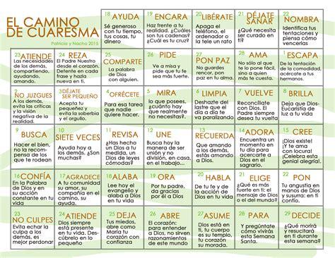 Calendario De Cuaresma Calendario De Cuaresma 2015 Odres Nuevos