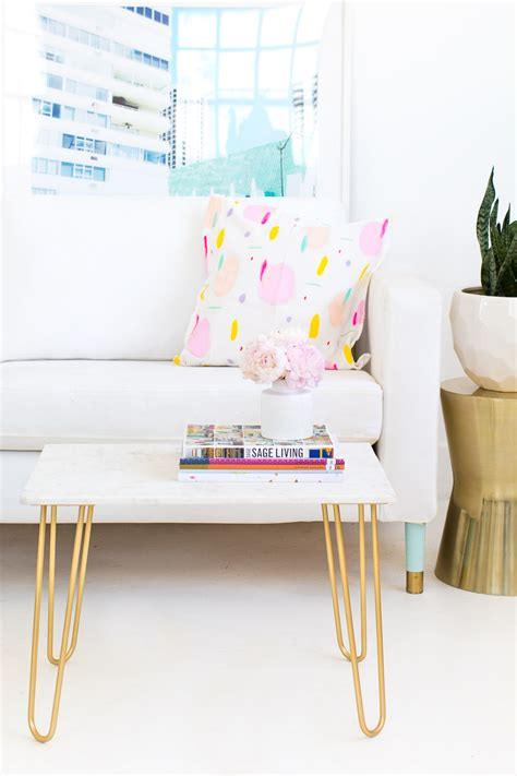 DIY Marble and Gold Accent Table   Sugar & Cloth