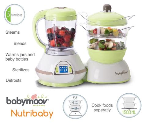 Babymoov Baby Moov Nutribaby Zen Food Processor Sterilizer Blender 1 babymoov nutribaby zen food processor