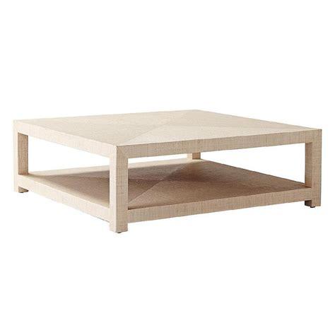 raffia wrapped coffee table raffia square coffee table
