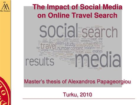 thesis about the effects of social media thesis on social media travel and search msc thesis of