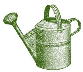 vintage garden clip classic watering can the