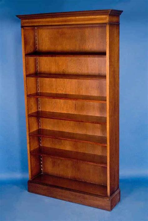 mahogany single open bookcase for sale antiques