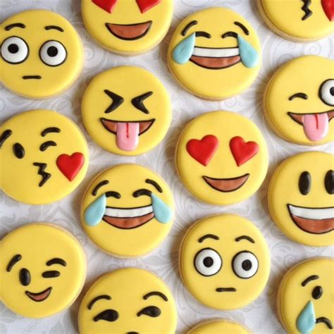 cookie emoji emoji emoticon cookies one dozen decorated sugar
