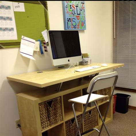 standing desk home office ikea hacks