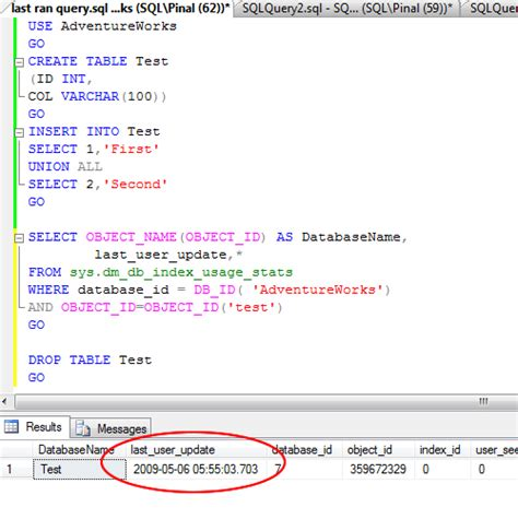 format date query sql server sql server find last date time updated for any table