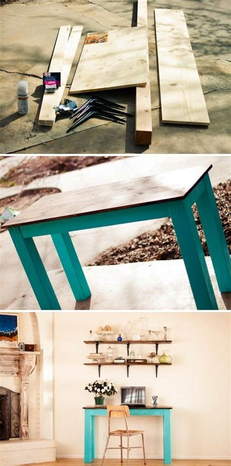 Diy Easy Desk Diy Console Table Woodworking Projects Plans