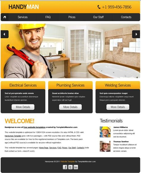 10 free html website templates for business free website template with slideshow for maintenance
