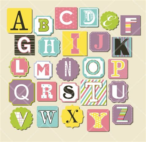 printable alphabet stickers 15 trendy scrapbook letters designs printable stickers