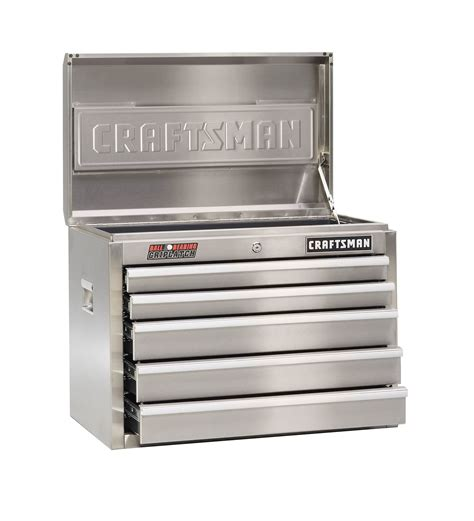 craftsman 5 drawer tool chest craftsman 26 quot 5 drawer ball bearing stainless tool chest