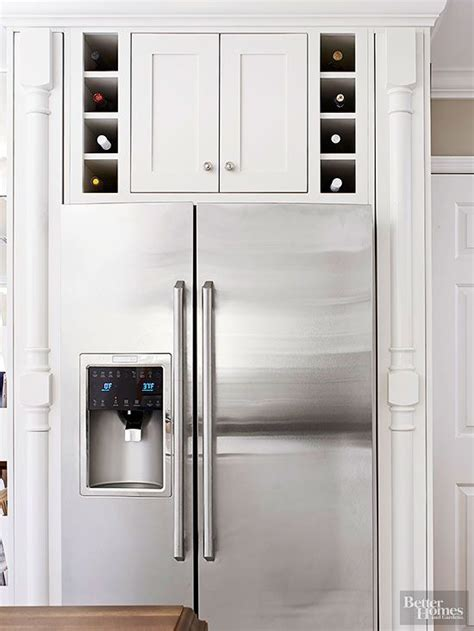 above refrigerator storage amazing kitchen wine storage ideas for your modern home
