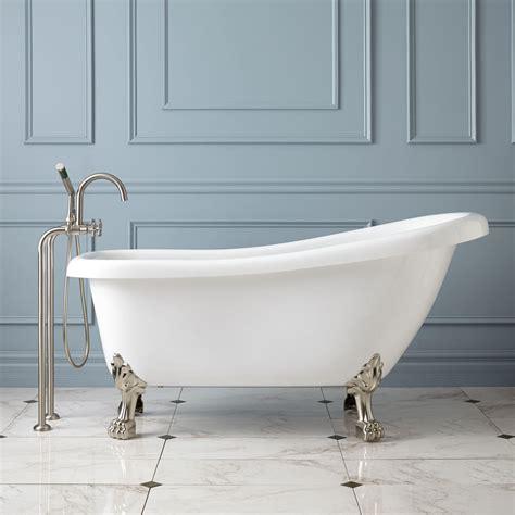 footed bathtubs edwin acrylic slipper tub lion paw feet clawfoot tubs