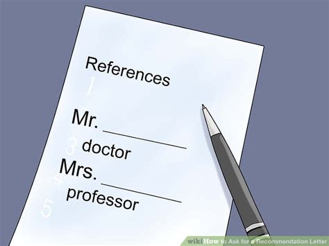 Reference Letter Wikihow 4 ways to ask for a recommendation letter wikihow