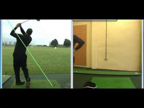 proper swing plane for driver correct swing plane with driver from behind youtube