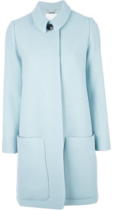 light blue wool coat pale blue wool coat jacketin