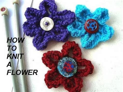 how to knit a flower how to knit a flower diy knitted flower for brooches