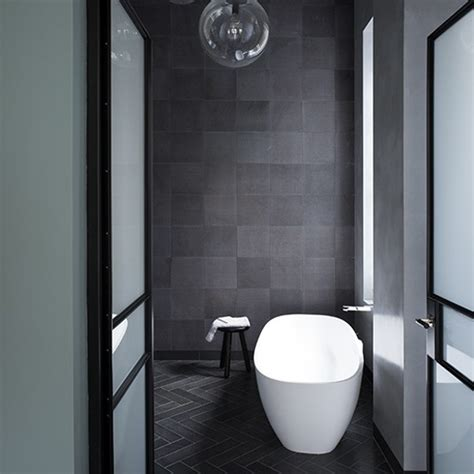 Grey Bathrooms Ideas by Charcoal Tiled Bathroom Grey Bathroom Ideas To Inspire