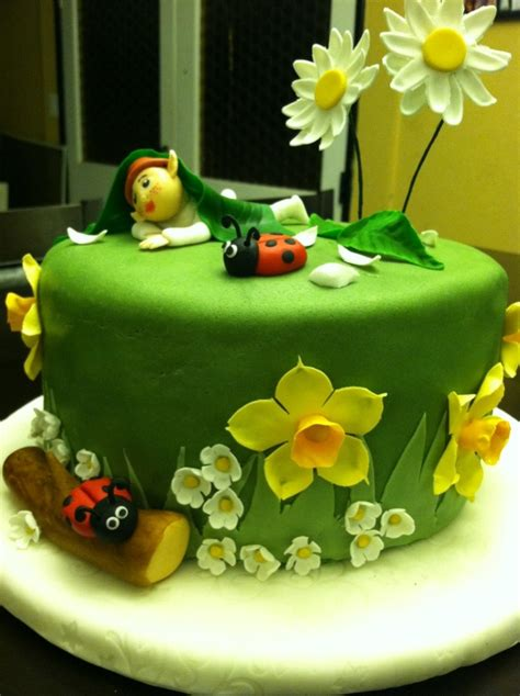 images  fairyelf birthday party  pinterest tinkerbell fairy house cake  cakes