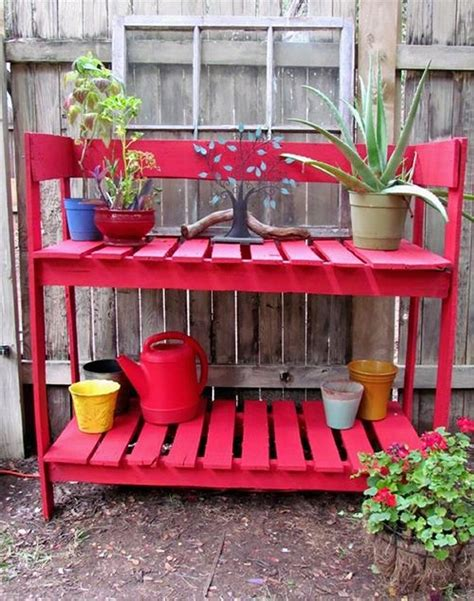 wood pallet potting bench pallet potting bench plans pallet wood projects