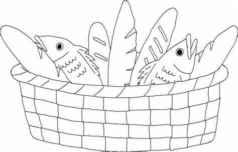 fish coloring pages 5 five loaves and two fish coloring page coloring home