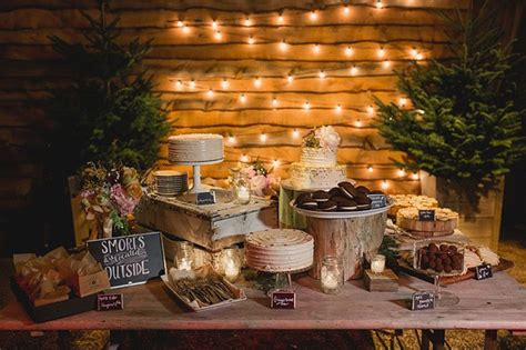 how to create a rustic dessert table for your barn wedding rock n rustic wedding dessert tables displays mon