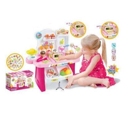 Maiinan Anak Edukasi Cart Playset Sweet Shop Luxury minimarket playset rupa2kepik