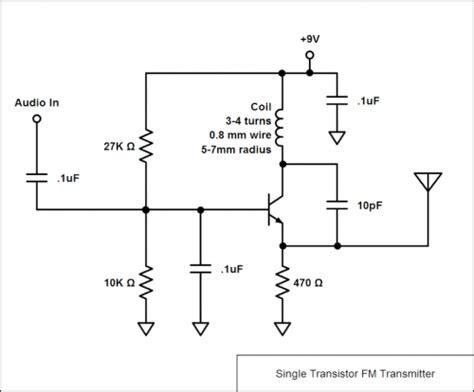 single transistor fm transmitter electronics and electrical quizzes eeweb community