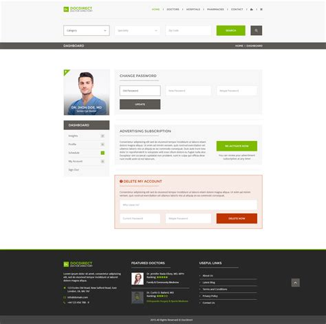 Physiatrist Description by Design Templates Psd Health Psd Theme Chef Duties And Responsibilities Physiatrist Description