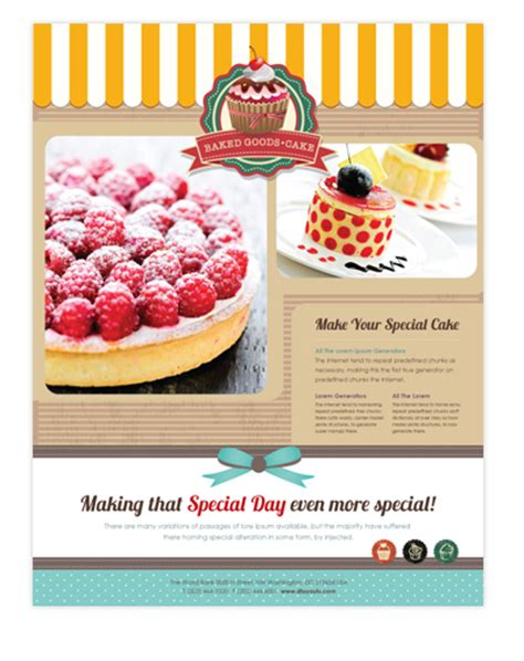 cake flyer template free cake shop flyer template will be a choice for