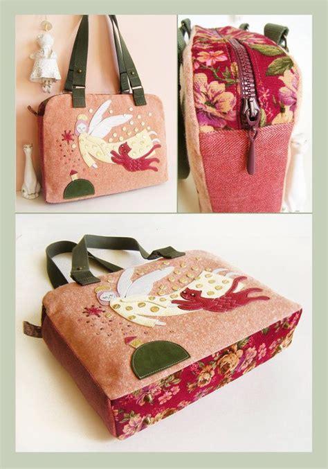 Upcycled Messenger Bags - heavenly appliqued shoulder travel bag pdf sewing pattern by orangecraftsbykatie patternpile com