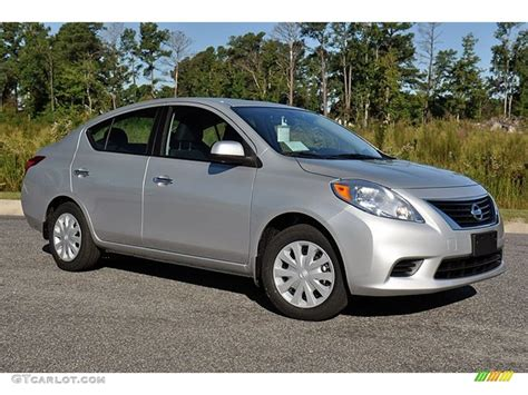 Brilliant Silver Metallic 2012 Nissan Versa 1 6 Sv Sedan
