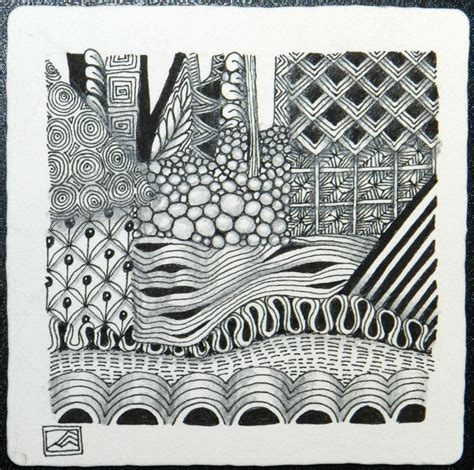 zentangle pattern knase zentangle 174 crafthatchery
