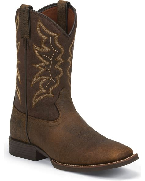 boots for brown justin s brown stede boots square toe country