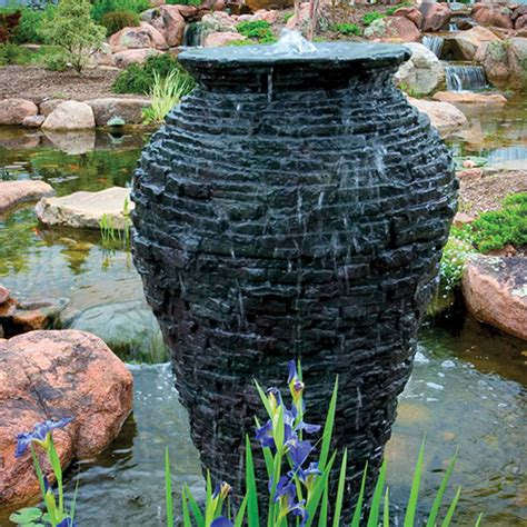 aquascape large stacked slate urn mpn 98940
