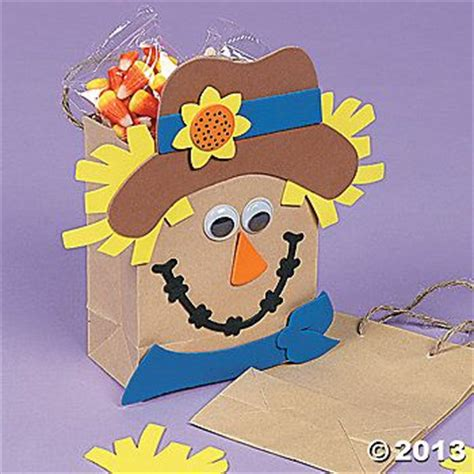Scarecrow Paper Craft - scarecrow crafts foam scarecrow paper gift bag craft kit