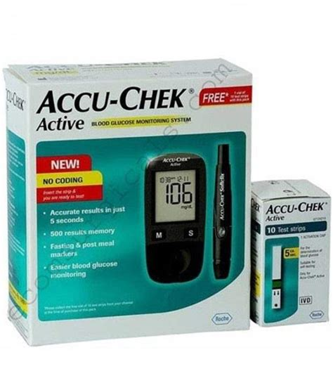 Refill Accu Chek Aktif 50 accu chek active glucometer buy now at 40