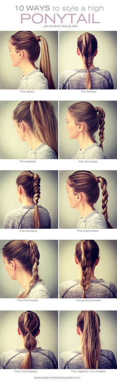 casual hairstyles for high school 10 easy ways to style a high pony tail especially for