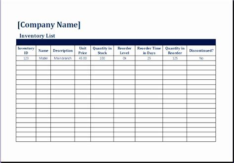 8 Moving Inventory List Exceltemplates Exceltemplates Inventory Sheet Template Excel
